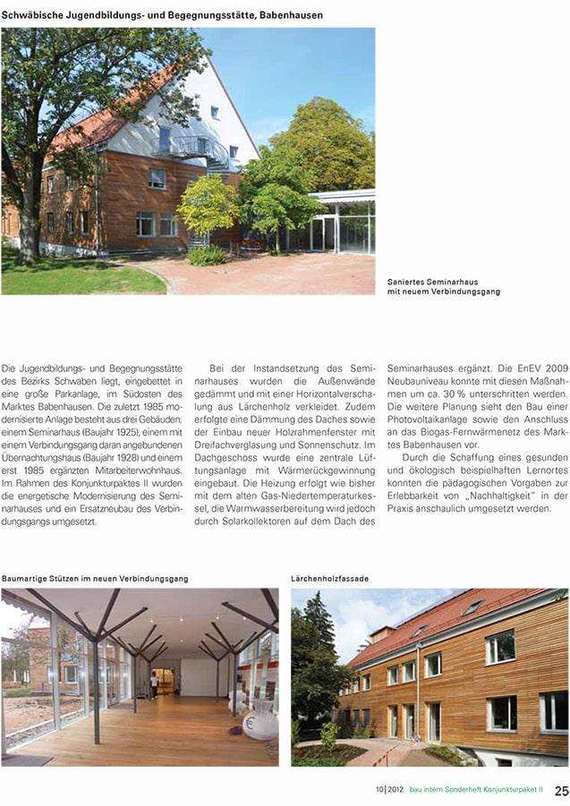 Sonderheft Bau Intern Zum Konjunkturpaket II Kommunale Infrast